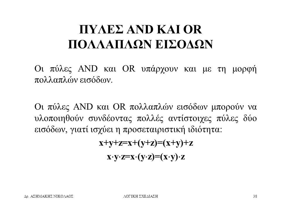 ΠΥΛΕΣ AND ΚΑΙ OR ΠΟΛΛΑΠΛΩΝ ΕΙΣΟΔΩΝ