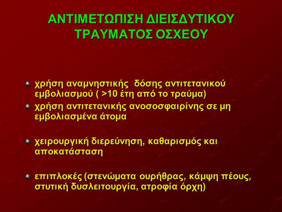 ΑΝΤΙΜΕΤΩΠΙΣΗ ΔΙΕΙΣΔΥΤΙΚΟΥ ΤΡΑΥΜΑΤΟΣ ΟΣΧΕΟΥ
