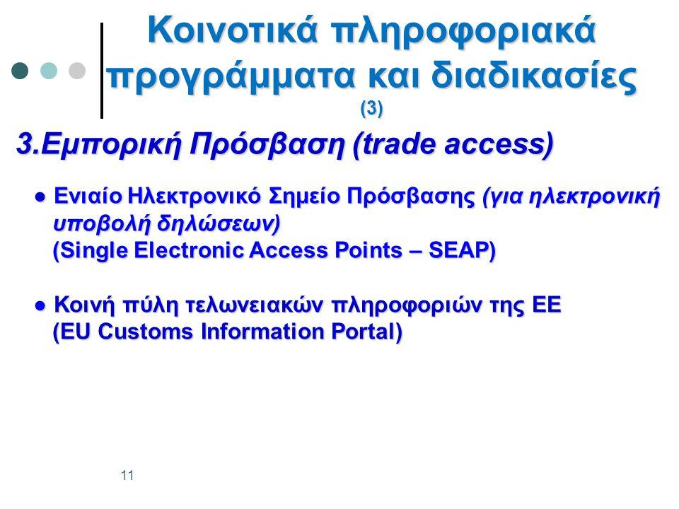 Κοινοτικά πληροφοριακά προγράμματα και διαδικασίες (3)