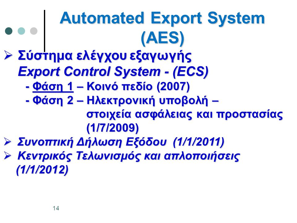 Automated Export System (AES)