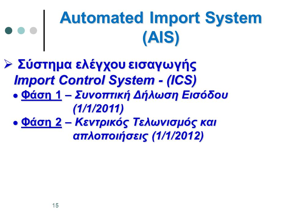 Automated Import System (AIS)