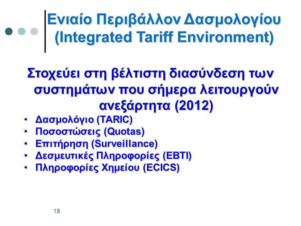 Ενιαίο Περιβάλλον Δασμολογίου (Integrated Tariff Environment)