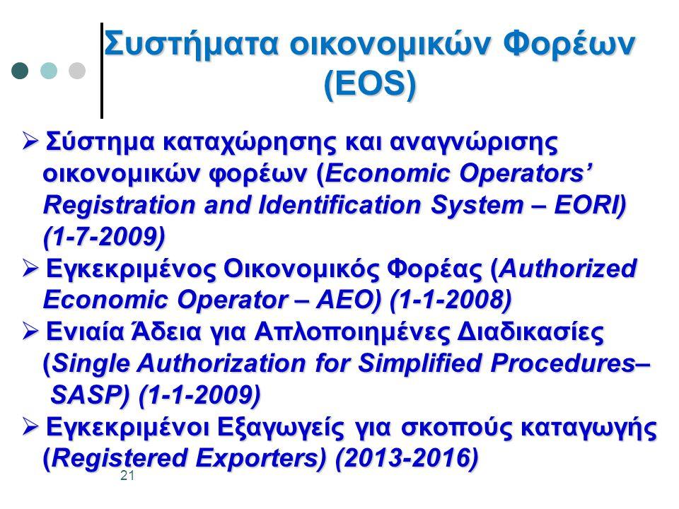 Συστήματα οικονομικών Φορέων (ΕΟS)