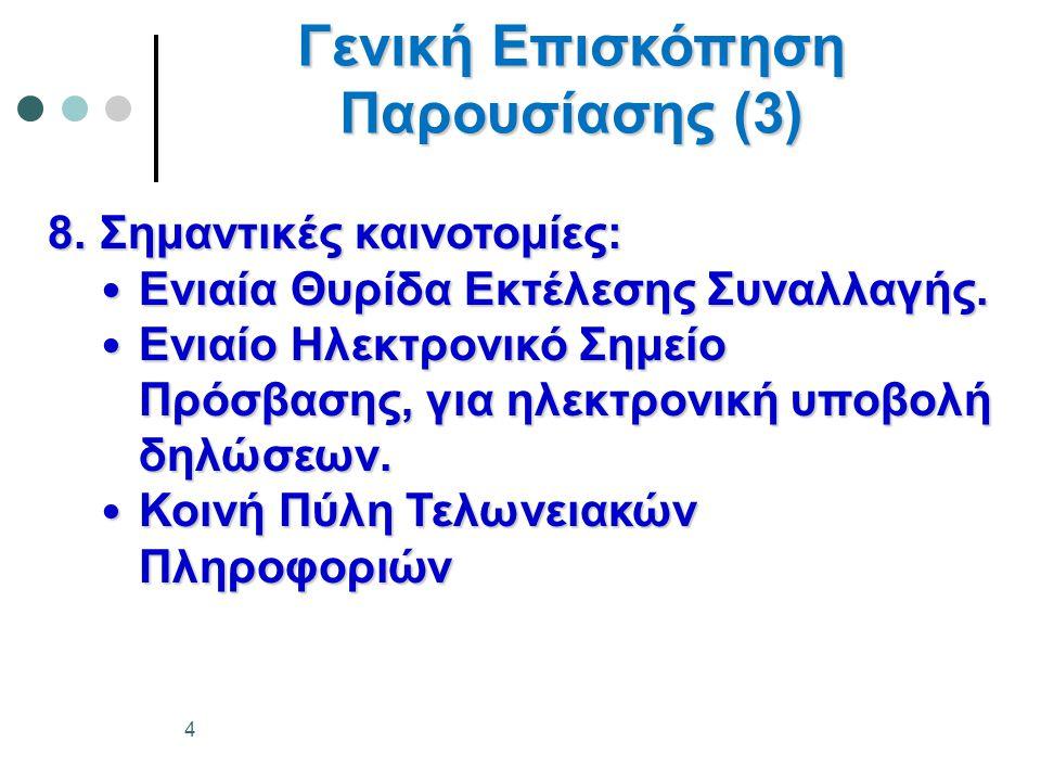 Γενική Επισκόπηση Παρουσίασης (3)
