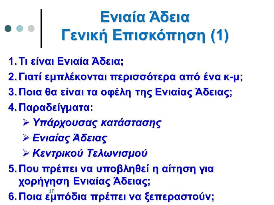 Ενιαία Άδεια Γενική Επισκόπηση (1)