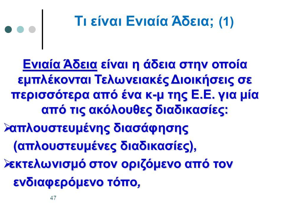 Τι είναι Ενιαία Άδεια; (1)