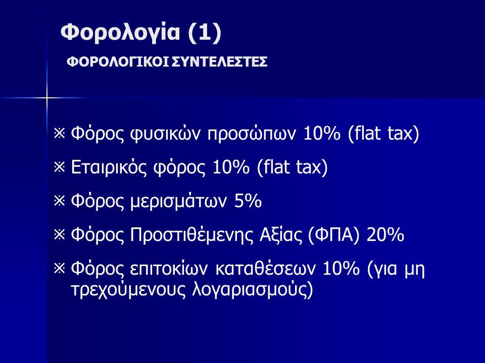 Φορολογία (1) ΦΟΡΟΛΟΓΙΚΟΙ ΣΥΝΤΕΛΕΣΤΕΣ