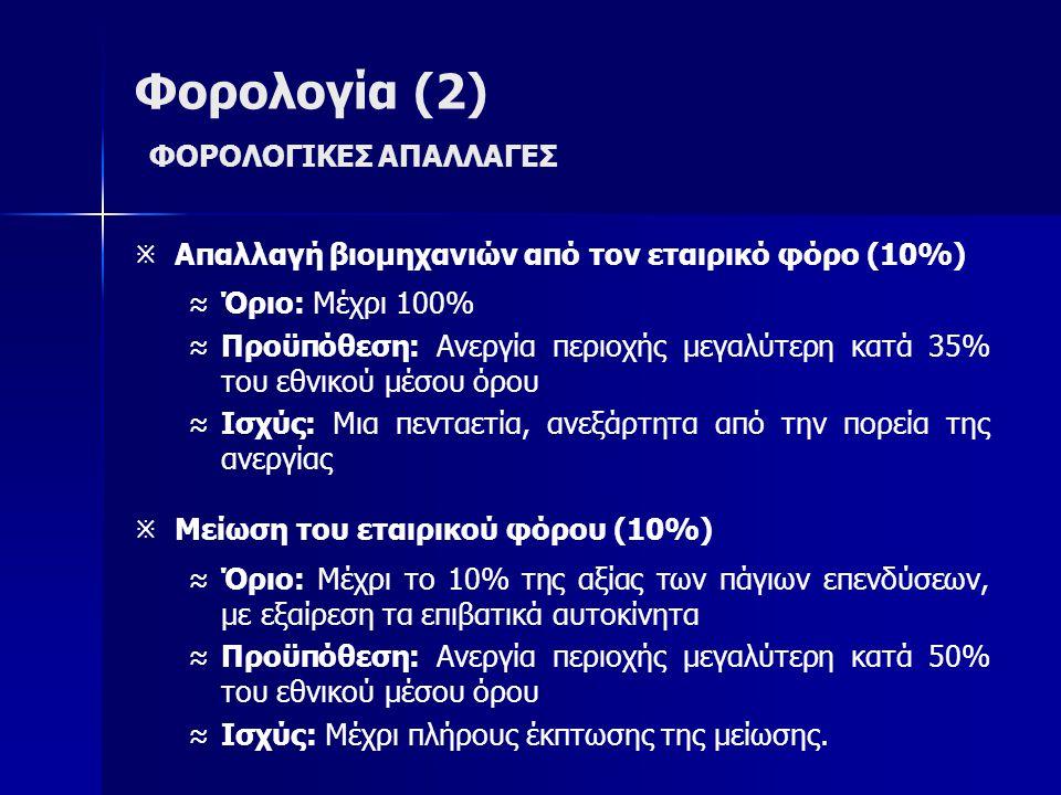 Φορολογία (2) ΦΟΡΟΛΟΓΙΚΕΣ ΑΠΑΛΛΑΓΕΣ
