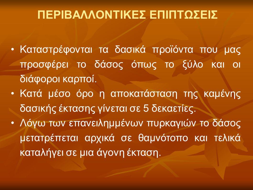 ΠΕΡΙΒΑΛΛΟΝΤΙΚΕΣ ΕΠΙΠΤΩΣΕΙΣ