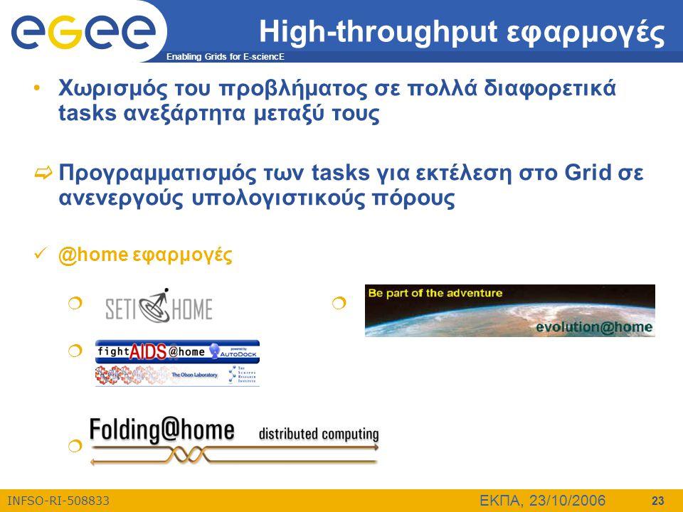 High-throughput εφαρμογές