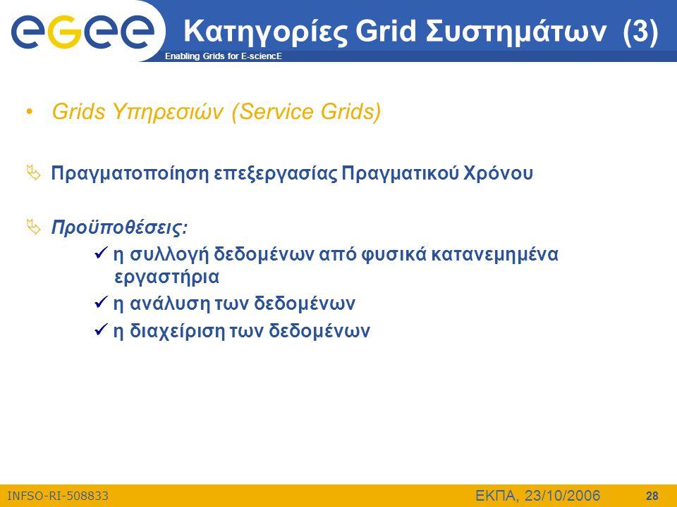 Κατηγορίες Grid Συστημάτων (3)