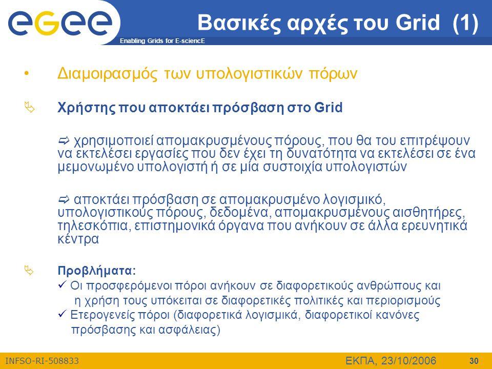 Βασικές αρχές του Grid (1)