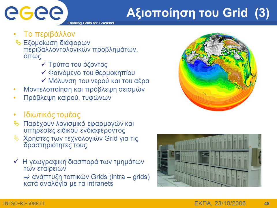 Αξιοποίηση του Grid (3) Το περιβάλλον Ιδιωτικός τομέας