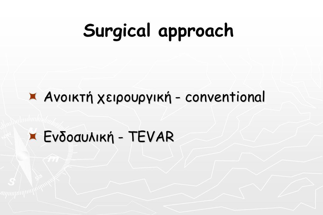 Surgical approach  Ανοικτή χειρουργική - conventional