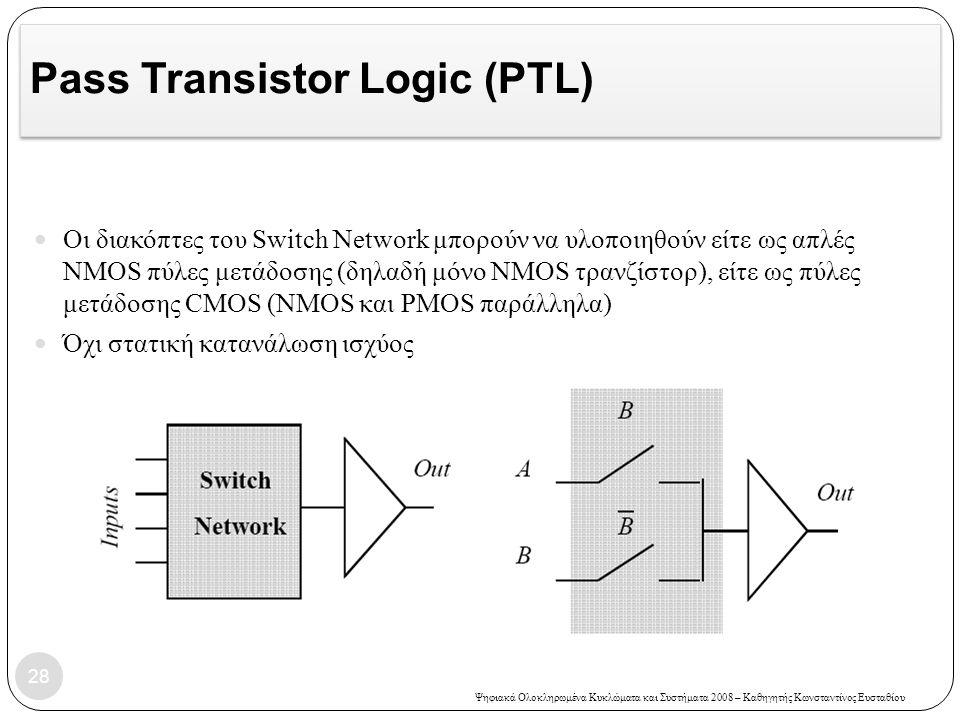 Pass Transistor Logic (PTL)