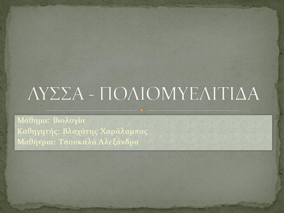 ΛΥΣΣΑ - ΠΟΛΙΟΜΥΕΛΙΤΙΔΑ