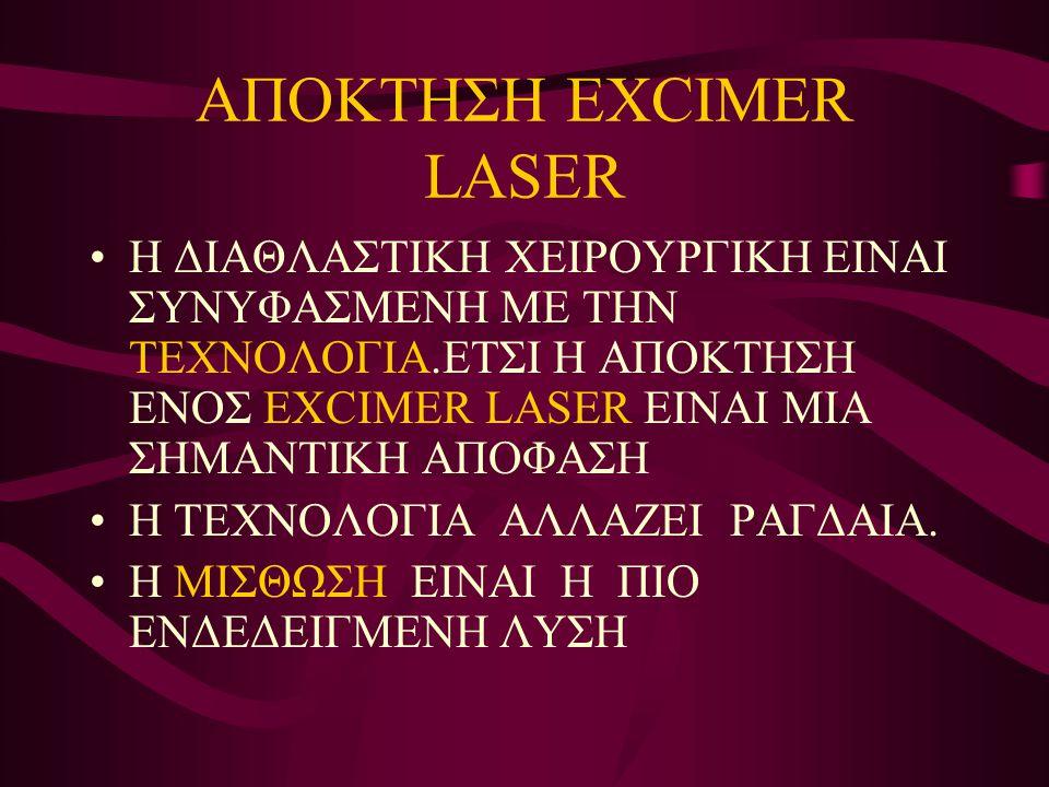 ΑΠΟΚΤΗΣΗ EXCIMER LASER