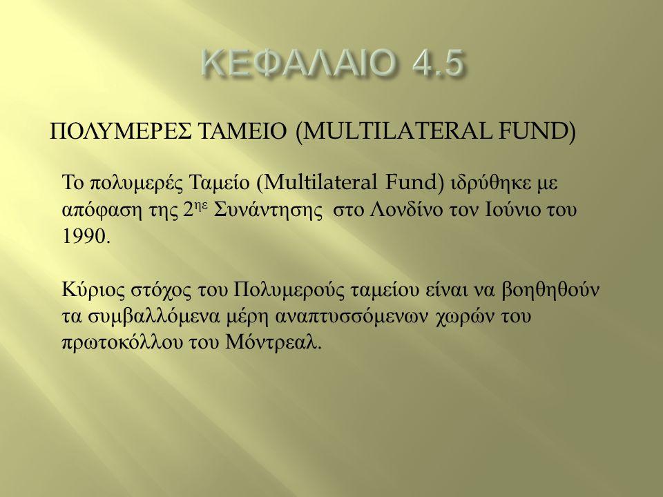 ΚΕΦΑΛΑΙΟ 4.5 ΠΟΛΥΜΕΡΕΣ ΤΑΜΕΙΟ (MULTILATERAL FUND)