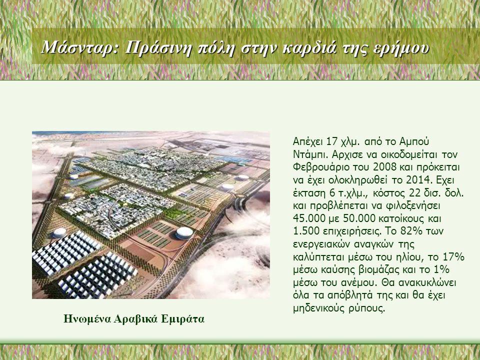 Μάσνταρ: Πράσινη πόλη στην καρδιά της ερήμου