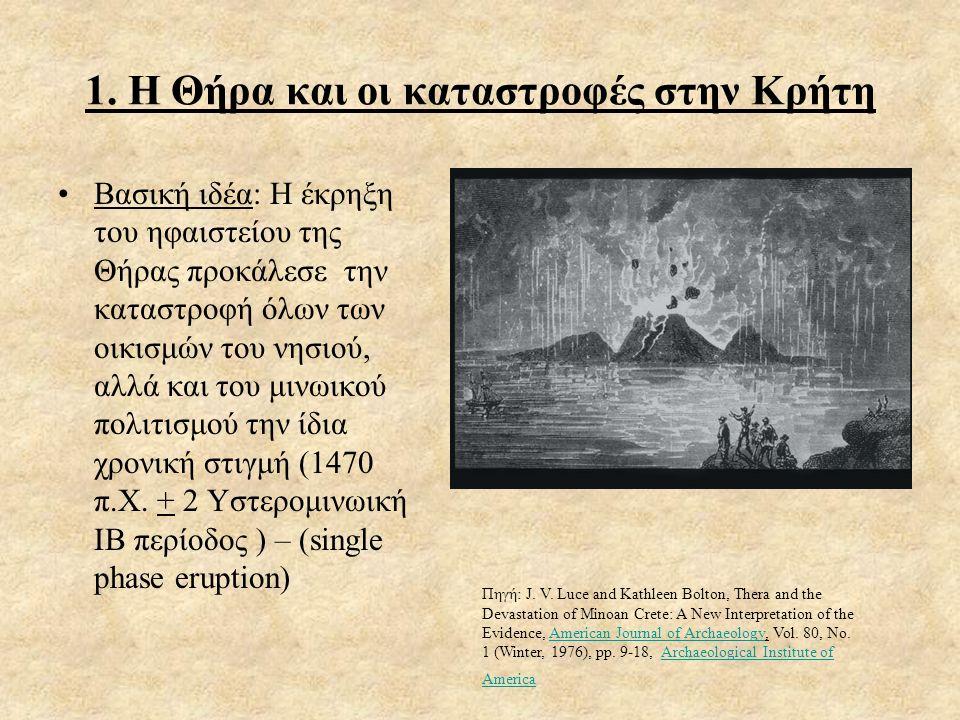 1. Η Θήρα και οι καταστροφές στην Κρήτη