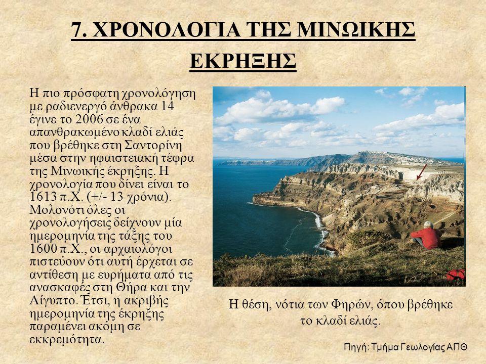 7. ΧΡΟΝΟΛΟΓΙΑ ΤΗΣ ΜΙΝΩΙΚΗΣ ΕΚΡΗΞΗΣ