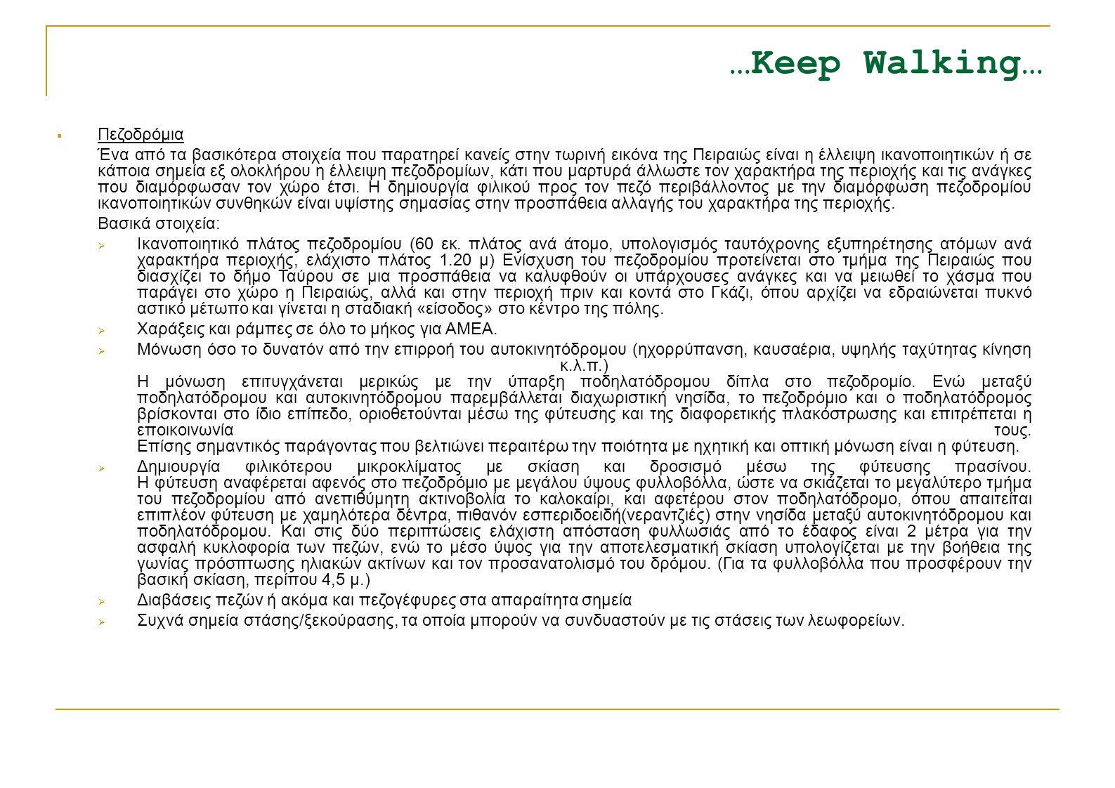 …Keep Walking… Πεζοδρόμια