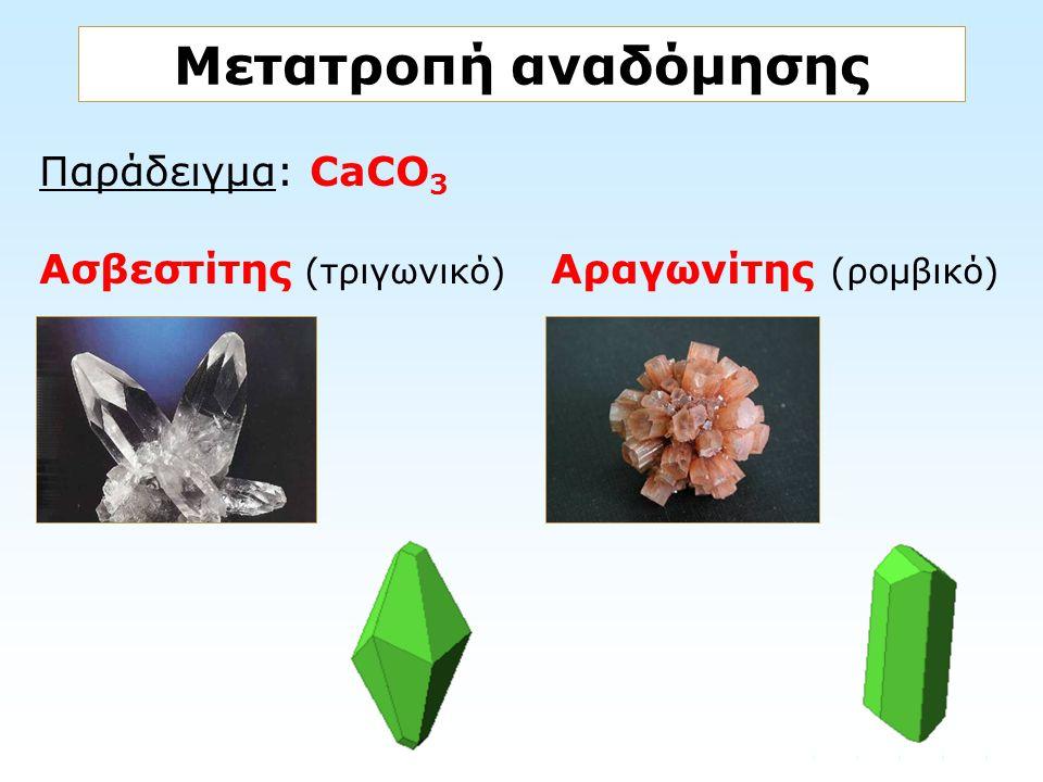 Μετατροπή αναδόμησης Παράδειγμα: CaCO3