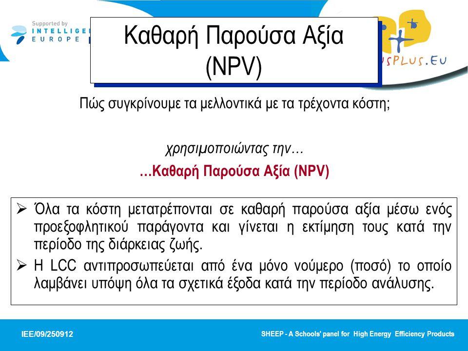 …Καθαρή Παρούσα Αξία (NPV)