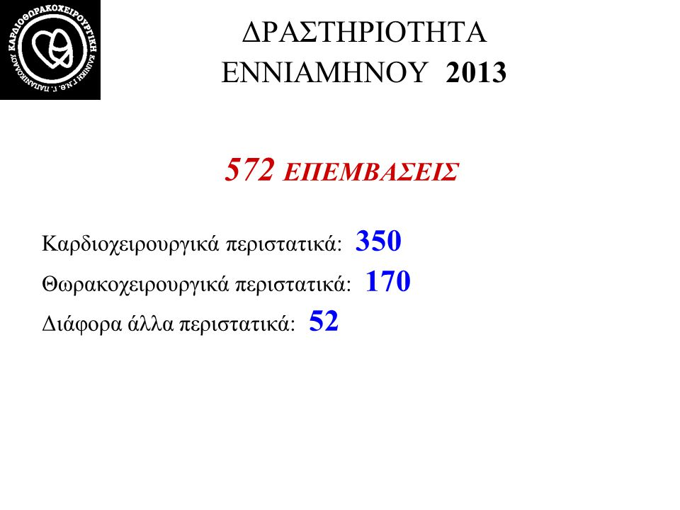 ΔΡΑΣΤΗΡΙΟΤΗΤΑ ΕΝΝΙΑΜΗΝΟΥ 2013