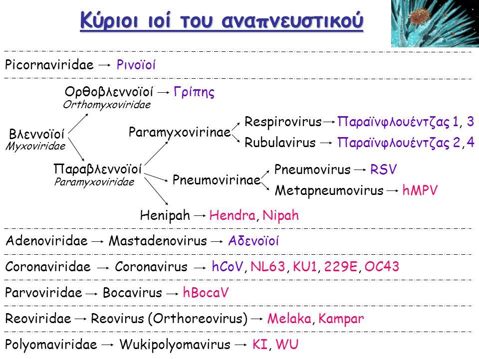 Κύριοι ιοί του αναπνευστικού