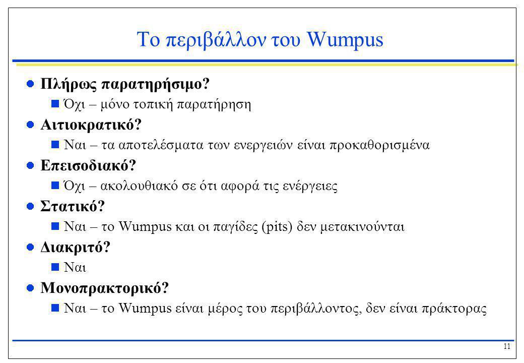 Το περιβάλλον του Wumpus