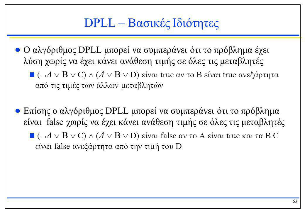 DPLL – Βασικές Ιδιότητες