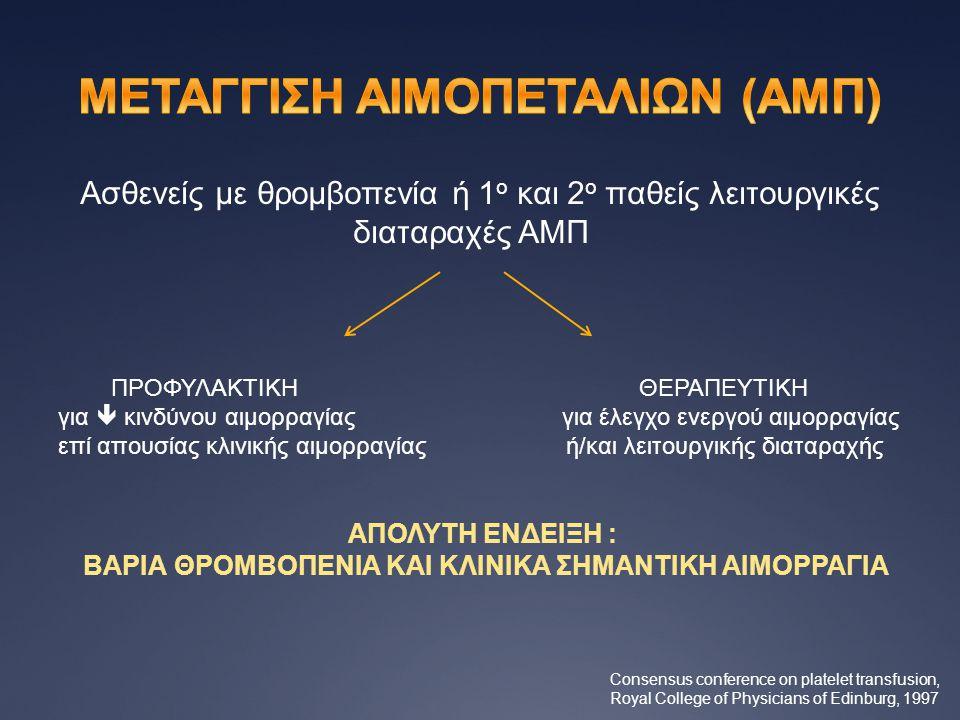 ΜΕΤΑΓΓΙΣΗ ΑΙΜΟΠΕΤΑΛΙΩΝ (ΑΜΠ)