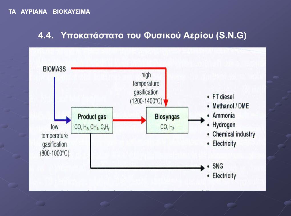 4.4. Υποκατάστατο του Φυσικού Αερίου (S.N.G)