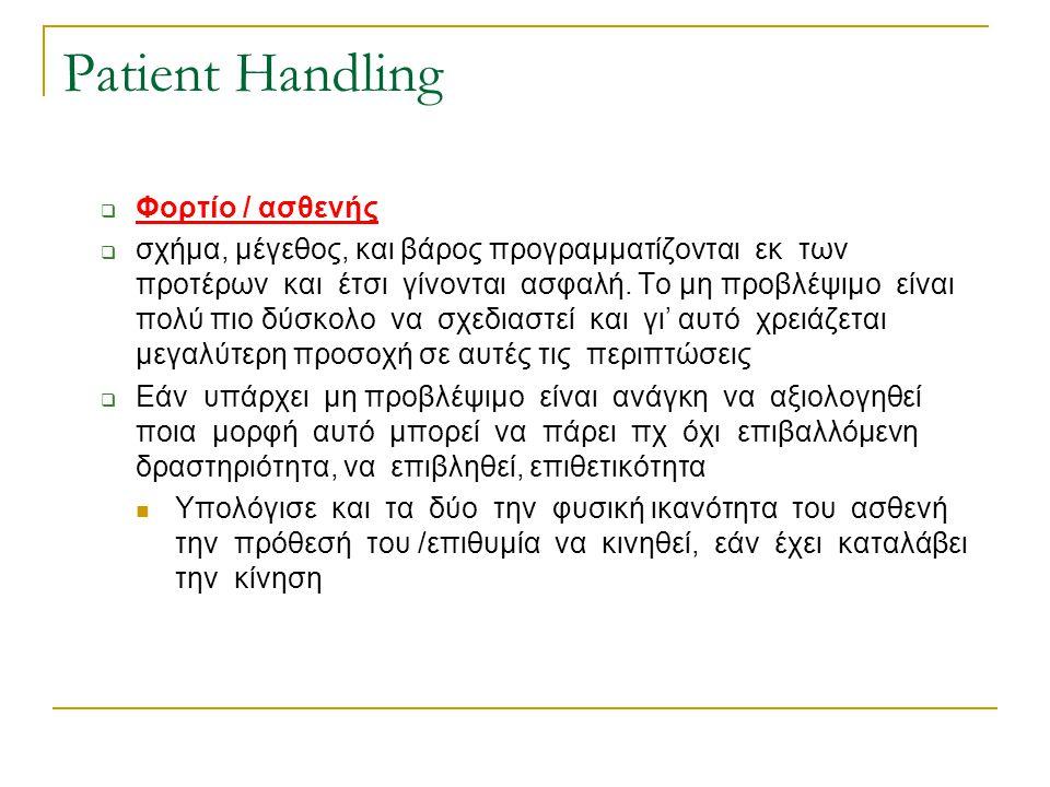 Patient Handling Φορτίο / ασθενής