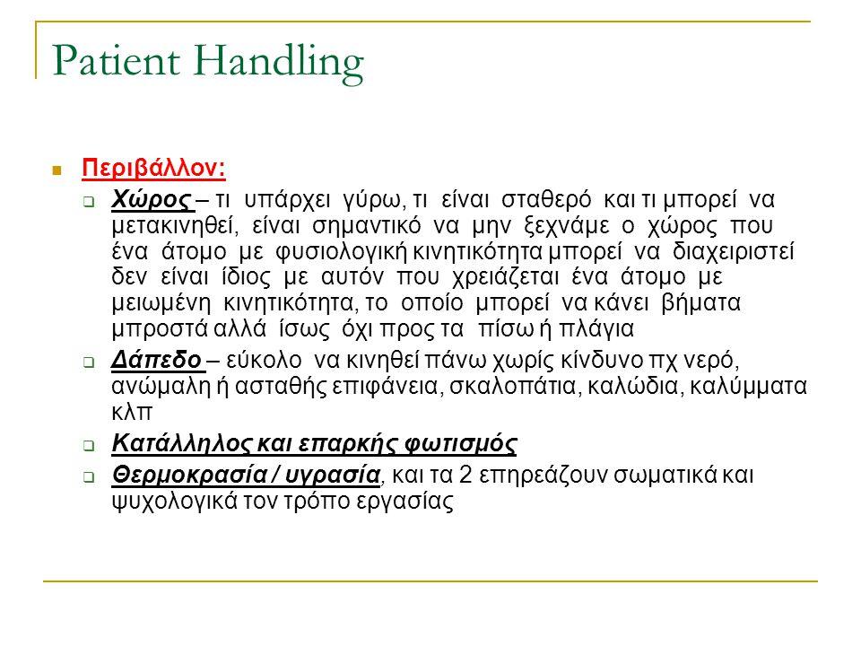 Patient Handling Περιβάλλον: