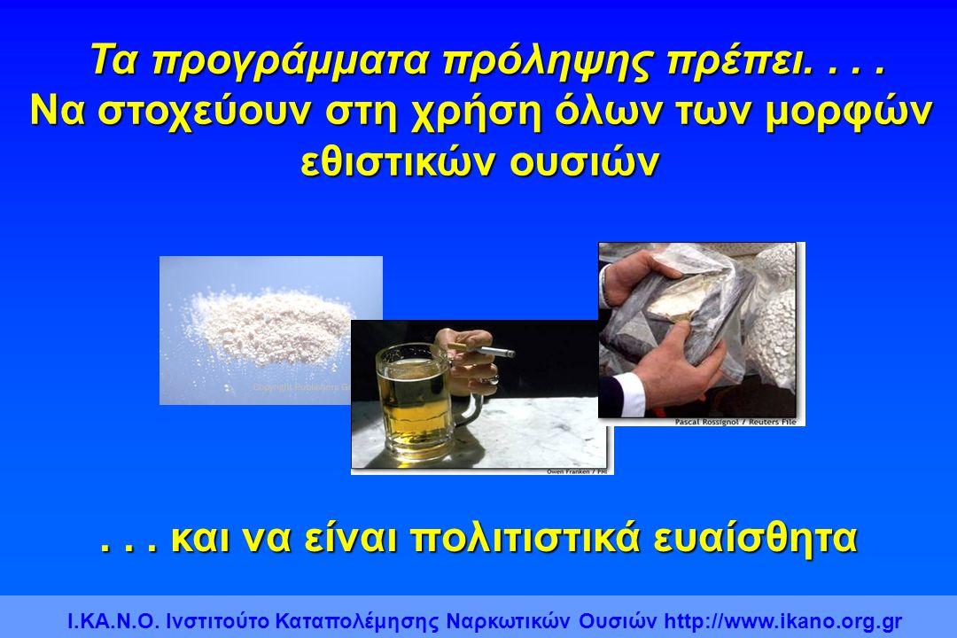 Τα προγράμματα πρόληψης πρέπει. . . .