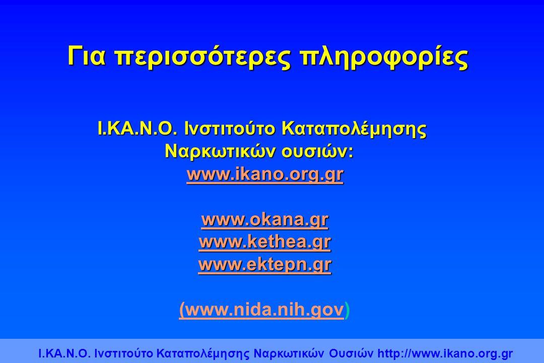 Για περισσότερες πληροφορίες Ι.ΚΑ.Ν.Ο. Ινστιτούτο Καταπολέμησης