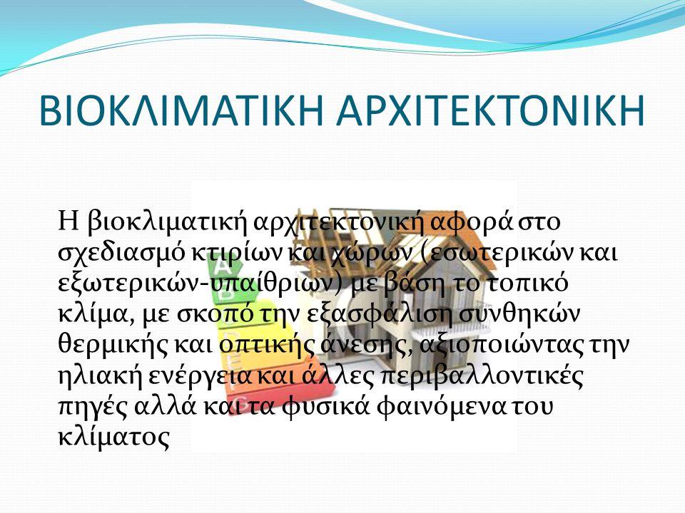 ΒΙΟΚΛΙΜΑΤΙΚΗ ΑΡΧΙΤΕΚΤΟΝΙΚΗ