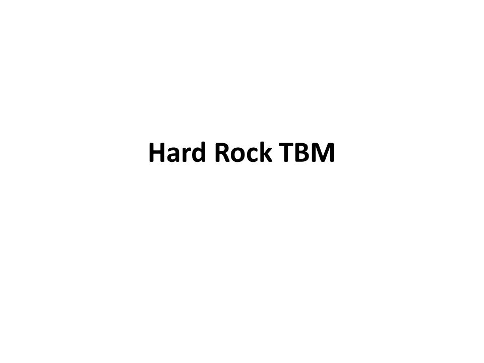 Hard Rock TBM
