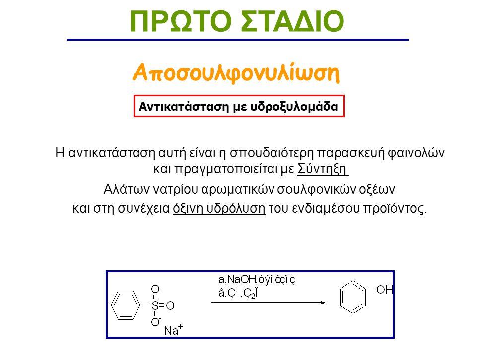 ΠΡΩΤΟ ΣΤΑΔΙΟ Αποσουλφονυλίωση