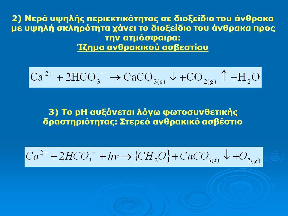 2) Νερό υψηλής περιεκτικότητας σε διοξείδιο του άνθρακα