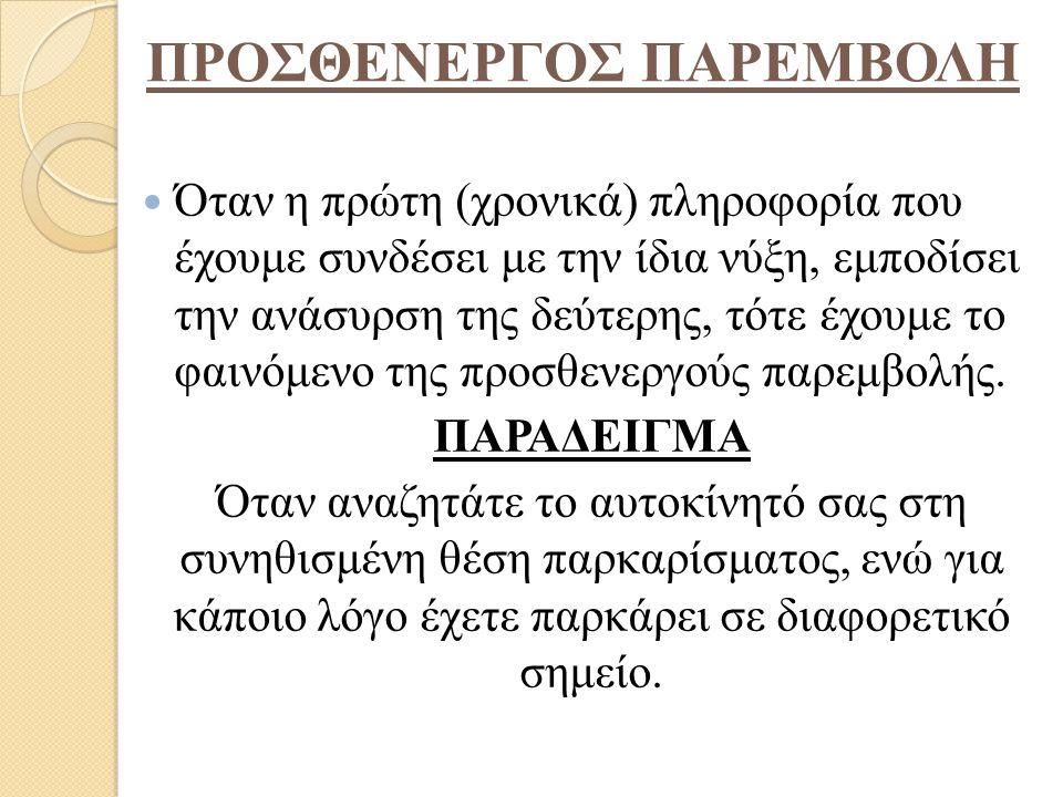 ΠΡΟΣΘΕΝΕΡΓΟΣ ΠΑΡΕΜΒΟΛΗ