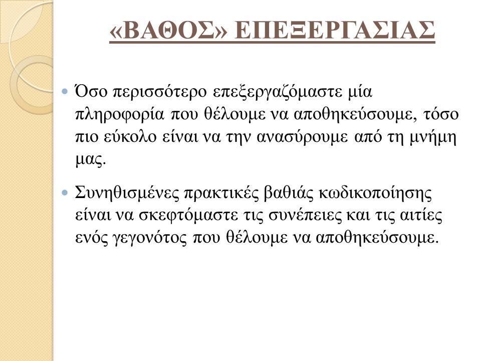 «ΒΑΘΟΣ» ΕΠΕΞΕΡΓΑΣΙΑΣ