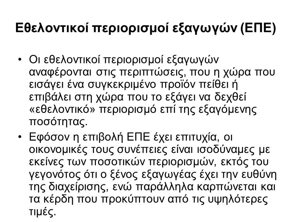 Εθελοντικοί περιορισμοί εξαγωγών (ΕΠΕ)