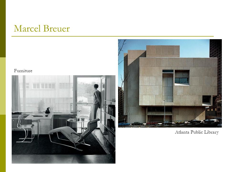 Marcel Breuer Furniture Atlanta Public Library