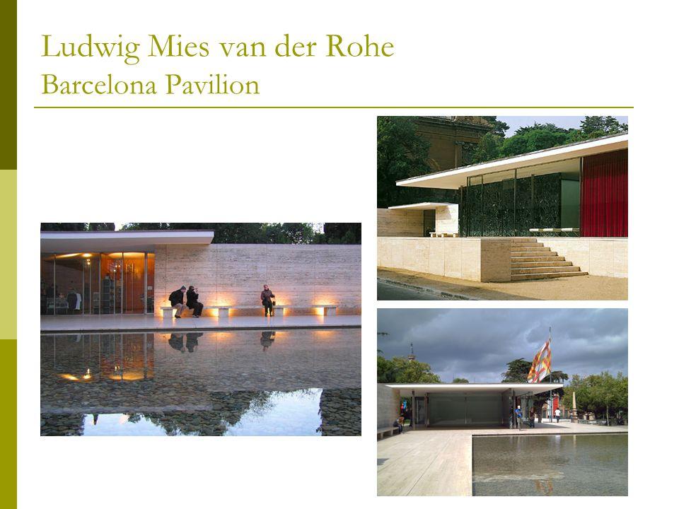 Ludwig Mies van der Rohe Barcelona Pavilion