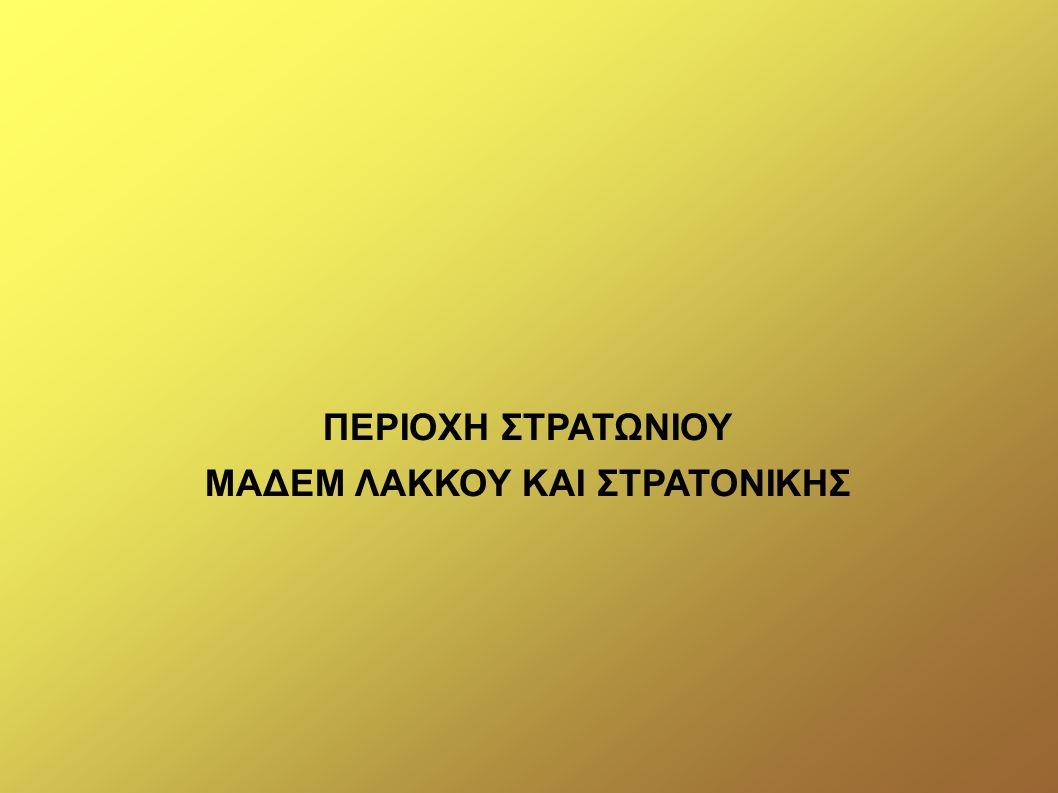 ΜΑΔΕΜ ΛΑΚΚΟΥ ΚΑΙ ΣΤΡΑΤΟΝΙΚΗΣ