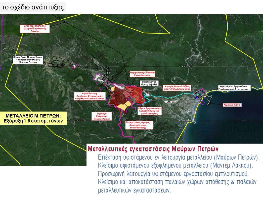 το σχέδιο ανάπτυξης ΜΕΤΑΛΛΕΙΟ Μ.ΠΕΤΡΩΝ: Εξόρυξη 1,6 εκατομ. τόνων