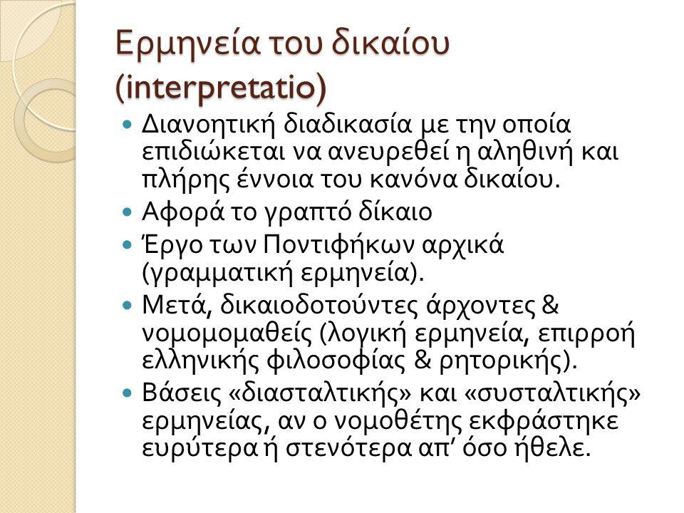 Ερμηνεία του δικαίου (interpretatio)